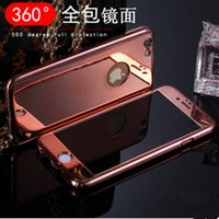 apple pc pouches - for iphone s plus samsung s7 edge s6 g530 j5 j7 luxury meta electroplatingl mirror pc hard case full body in back cover