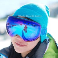 best snowboard goggles - Ski goggles spherical professional snowboard goggles men women snow glasses big motocross snowmobile best skiing googles double lens large