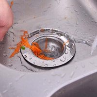 bathtub filter - Stainless Steel Kitchen Sink Basin Bathtub Hair Drain Mesh Waste Plug Hole Filter Flume Sink Strainer