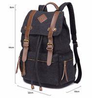 Wholesale Men Ladies Plain Canvas Backpack Travel Satchel Schoolbag Large Capacity Laptop Bag USB Design Backpack Book Bags
