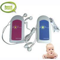 Wholesale New Fetal Doppler Ultrasound Prenatal Baby Monitor Baby Heart Rate Detector MHz without LCD Display