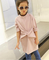 Wholesale The girl in the autumn of new children s wear long sleeved t shirt bow