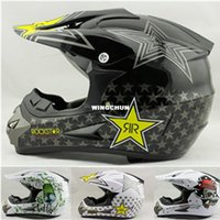 Wholesale rockstar cascos capacete motorcycle helmet ATV Dirt bike downhill cross off road motocross helmets DOT S XL SIZE
