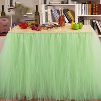 Wholesale Queen Snowflake Tutu Table Skirt Custom Winter Wonderland Tulle Table Skirt Wedding Birthday Baby Shower Party Decoration