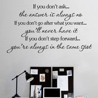 ask english - If You Do Not Ask English Text Wall Decal Vinyl Removable Art Home Decor Waterproof Living Room Wall Sticker