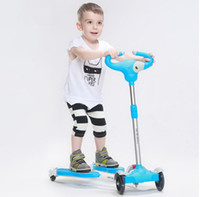Wholesale Children s scooter Swing scissors cars Environmental protection PP material Cool music box Solid non slip handle tb21007