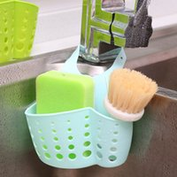 Wholesale Kitchen Sink Shelving Bag Dish Cloths Rack Suction Sponge Hanging Drain Holder Faucet Multipurpose Storage Rack