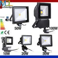 Wholesale PIR Infrared Motion Sensor led floodlight V Waterproof W W W W COB IP65 led Flood Light for led spotlight outdoor Lights
