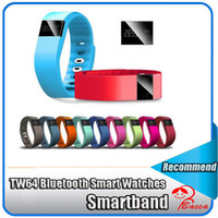 Wholesale TW tw64 Smartband Smart sport bracelet tw64 Wristband Fitness Tracker Bluetooth Smart Watch for for Iphone samsung