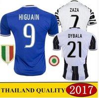 Wholesale Player version Juventus HIGUAIN POGBA soccer jersey CUADRADO KHEDIRA ZAZA DYBALA MARCHISIO MANDZUKIC CHIELLINI shirts