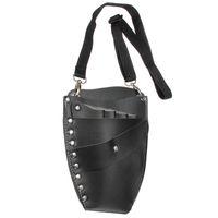 Wholesale Professional Leather Rivet Clips Bag Salon Scissors Hairdressing Holster Pouch Holder Case Black