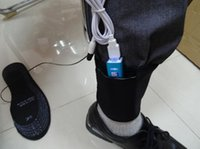 battery heated shoes - pair winter Warmer Electronic connecting PC USB port Black battery heated shoes