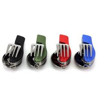 Wholesale Folding Knife Fork Spoon and Bottle Opener Combination Stainless Steel Cutlery Multifunctional Tableware Blue Red green black