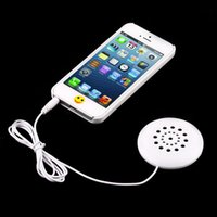 Wholesale Mini White mm Pillow Speaker for MP3 MP4 Player iPhone iPod CD Radio G00069 CAD