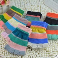Wholesale New fashion high quality fingerless gloves Knitting cycling gloves pair half finger gloves colorful style for