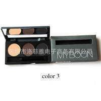 Wholesale MYBOON three color B13 waterproof anti sweat double eyebrow eyebrow with the eyebrow brush cosmetics
