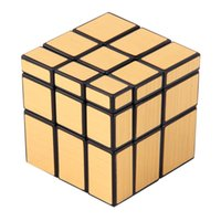 Wholesale Shengshou mirror magic cube Golden Mirror Cube Black body With Golden Stickers And Black body With Silver Stickers