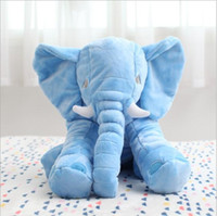 Wholesale 6 color Elephant Pillow Baby Doll Children Sleep Pillow Birthday Gift INS Lumbar Pillow Long Nose Elephant Doll Soft Plus