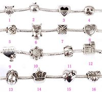Wholesale Pandora Beads Charms with Hollow Full Love Heart Bead Charm Fit Women Diy Pandora Charm Snake Bead for Chain Bracelets Bangles