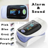 Wholesale Alarm health care OLED display Fingertip Pulse Oximeter Blood Oxygen SpO2 saturation oximetro monitor Blood Pressure