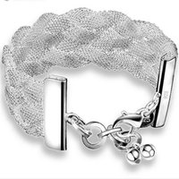 balance weave - Healthy balance silver plated charm Bracelet Fashion Jewelry silver bangle YDHS101 Net woven bracelet