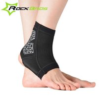 Wholesale ROCKBROS Sport Ankle Support Elastic High Protect Sports Ankle Equipment Safety Running Basketball Ankle Brace Support K6123