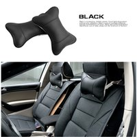 Wholesale Breathe PU Leather Car Auto Seat Head Neck Rest Cushion Headrest Pillow Pad Safety Pillow Colors CIA_605