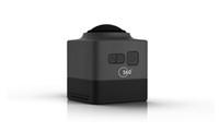 2016 Nueva cámara negra HD720P de la acción del deporte del CUBO 360 360 grados VR panorámico Construir-en la mini vida ultra del recorrido de WiFi