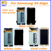 Wholesale New For Samsung Galaxy S6 Edge Lcd Display touch screen digitizer Replacement Repair Parts With Full Assembly g