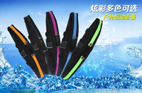 Wholesale 100pcs Universal Multifunctional Waterproof Sport Waist Bag Running Cycling Jogging Bag for iPhone Samsung Single Double Pockets Colors
