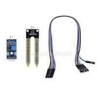 Wholesale New Soil Hygrometer Humidity Detection Module Moisture Water Sensor for Arduino E5M1 order lt no track