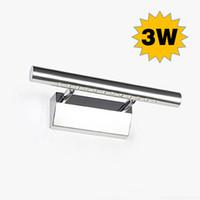Wholesale 3W mm bathroom light V V mini SMD led mirror lamp warm cool white wall lamps