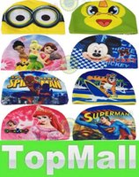 Wholesale LAI Cartoon mickey mouse kids Swimming cap Frozen despicable Me Swimming cap Superman Children s swimming cap