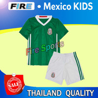 mexico - Best Quality Mexico Kids Soccer Jerseys Children Uniform blue Mexico Kids G Dos Santos Baby Boys CHICHARITO Youth mexico kid Kits