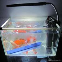 Wholesale New Fish Tank Water Plant LEDs W Clip Light Lighting Lamp Touch Switch Flexible Modes White Blue Aquarium Accessories