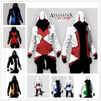 Wholesale 2016 New Hot Assassins Creed Cosplay Overcoat Colors Assassin s Creed Cool Men Tops Slim Confortable Connor Jacket