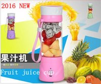 Wholesale NEW electric juice glass juice cup of juice artifact multi functional portable rechargeable mobile juicer cup steel knife