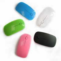 Wholesale 6 Colors Wireless Optical Mouse Mice Ultra thin Mouse USB Receiver ultrathin Slim Mouse for pc computer