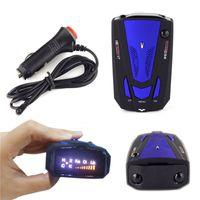 Wholesale 1PCS Degree Car Speed Radar Detector Voice Alert Detection Shaped Safety for Car GPS Laser LED