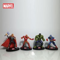 Wholesale 2016 hot sale Marvel Heros cm Captain America Iron man Thor Hulk Avenger PVC Action Figure styles