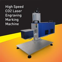 air engravers - High Speed RF10W CO2 Laser Marking Machine with Air Cooling System CO2 Laser Engraver For Non metal Marking