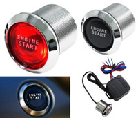 Wholesale Auto Car Keyless Engine Start Push Button Red LED Power Starter Ignition Switch YY387