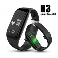 Wholesale H3 Smartband Heart Rate Monitore Smart Wristband Bracelet Health Wrist Watch Call Alarm Vibrating for xiomi Android ios phone