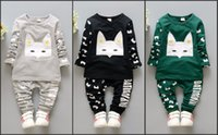 pajamas for children - Kids Pajamas Letter New Cute Boys and Girls Long Sleeve Pajama Set Autumn Winter Cotton Cheap Korean Children Suit for Sleeping
