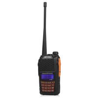 Wholesale Cheap BaoFeng Walkie Talkie Interphone UV R Dual Band Dual Display Dual Standby Handheld Portable Walkie Talkie UHF VHF DTMF Two Way Radio
