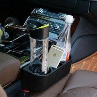Wholesale 50pcs LJJL128 Multifunction Car Seat Storage Organizer Black Car Cup Drink Bottle Holder Phone Holder Box