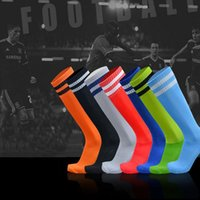 absorbent socks - Barreled Football Socks Towel bottom motion absorbent non slip socks for children football socks striped knee stockings L001