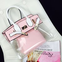 bench handbags - 2016 Jelly Bag Summer Transparent Bench Bags Fashion Girl Picture Package PVC Children Handbags Bag in Bag