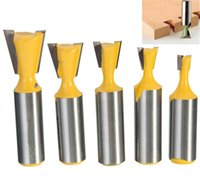 best router bits - 1PC Rail Stile Drill Bits Router Bit Solid Hardened Steel Body Dovetail Tenon Wood Cutter Woodworking Drilling Best Hand Tool Parts