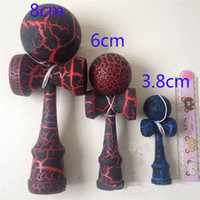 Wholesale 21 Color jumbo Crack Paint Kendama Ball toy Wood Japanese Traditional Funny Sword ball Game kid toy Christmas gift